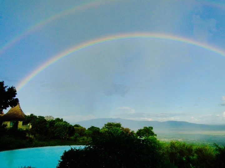 Double rainbow over Tanzania, Africa - 3 Days*