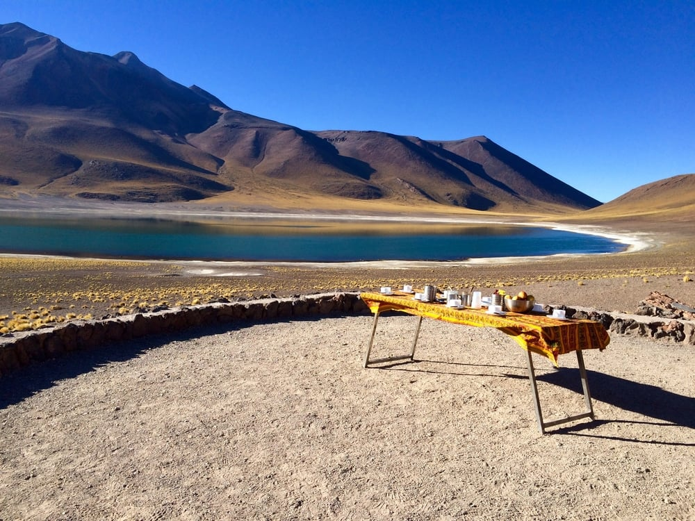 Breakfast Altiplano Lagoon, Atacama Chile - 3 Days*