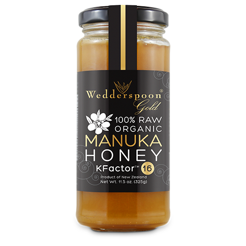 Wedderspoon's +16 Manuka Honey for $39.99 is 100% organic