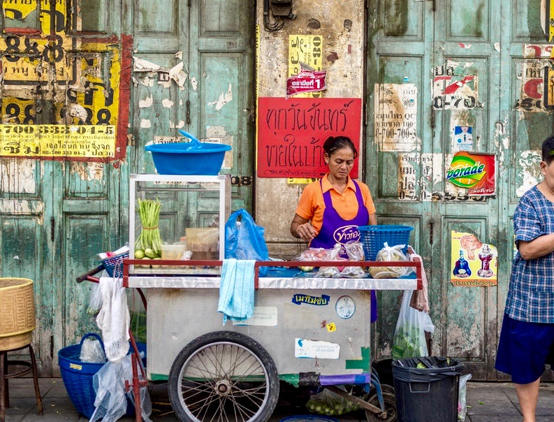 Street Food Cart, Bangkok Thailand - 3 Days*