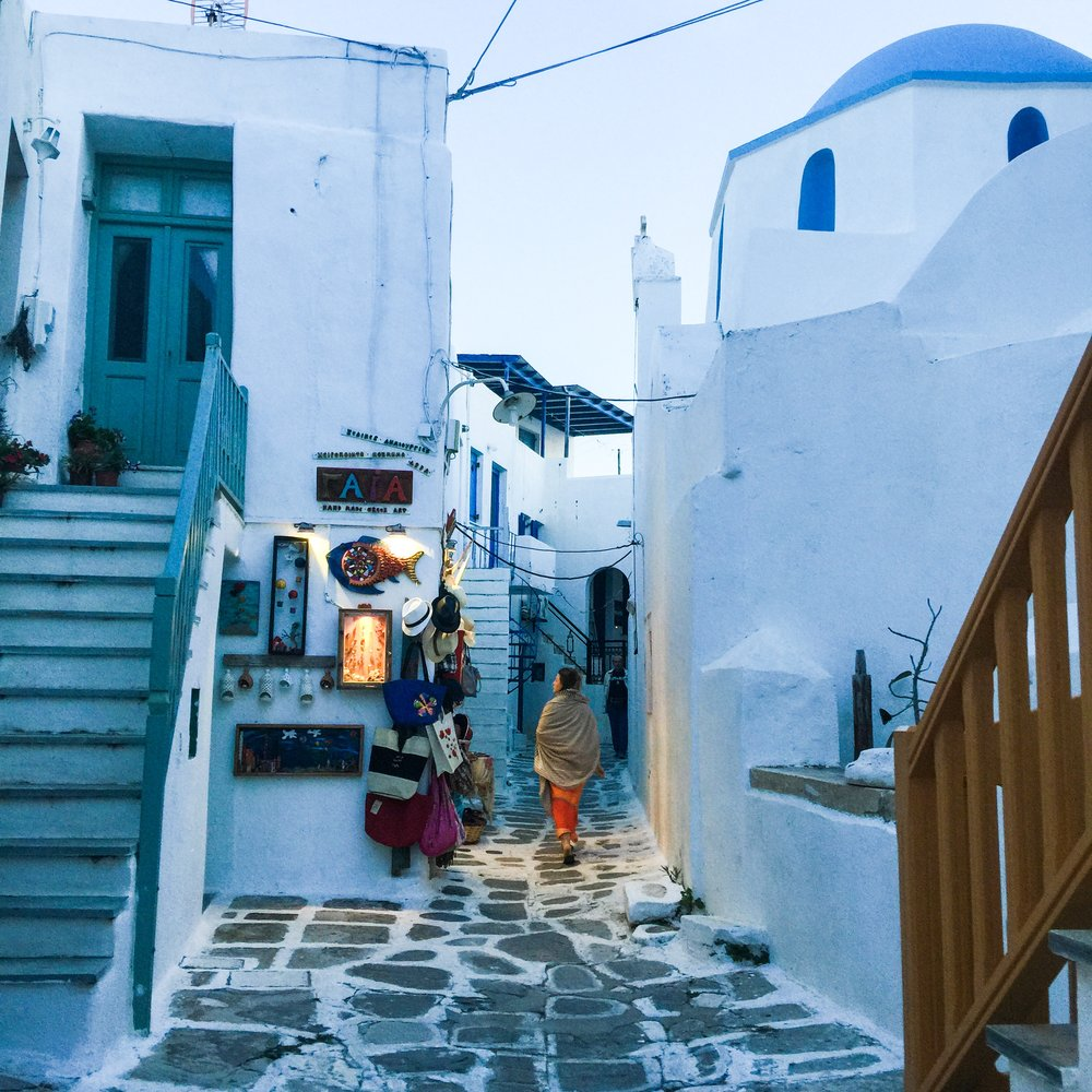 Ana in Paros, Greece, Photo: Courtesy of Larkin Clark