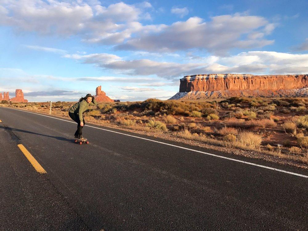 Skate bording in Monument Valley, Utah - 3 Days*