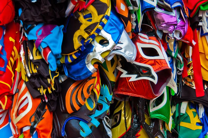Lucha Libre masks at Arena Mexico, Mexico City - 3 Days*