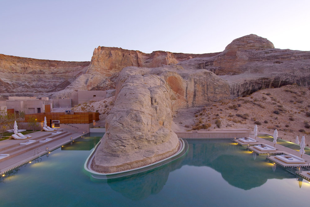 Swimming Pool at the Amangiri Hotel, Utah - Roland Emmerich, 3 Days* - 📸 Amangiri