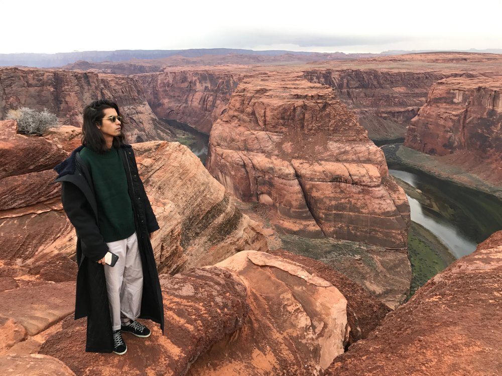 Omar, Roland's fiancé at Horseshoe Bend, AZ - 3 Days* - 📸 Roland Emmerich
