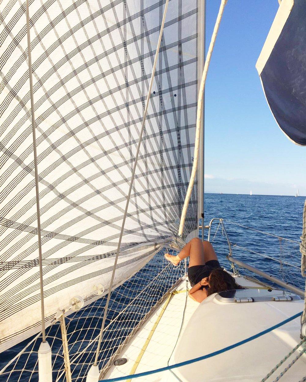 Hallie sailing off the coast of Barcelona - 3 Days*
