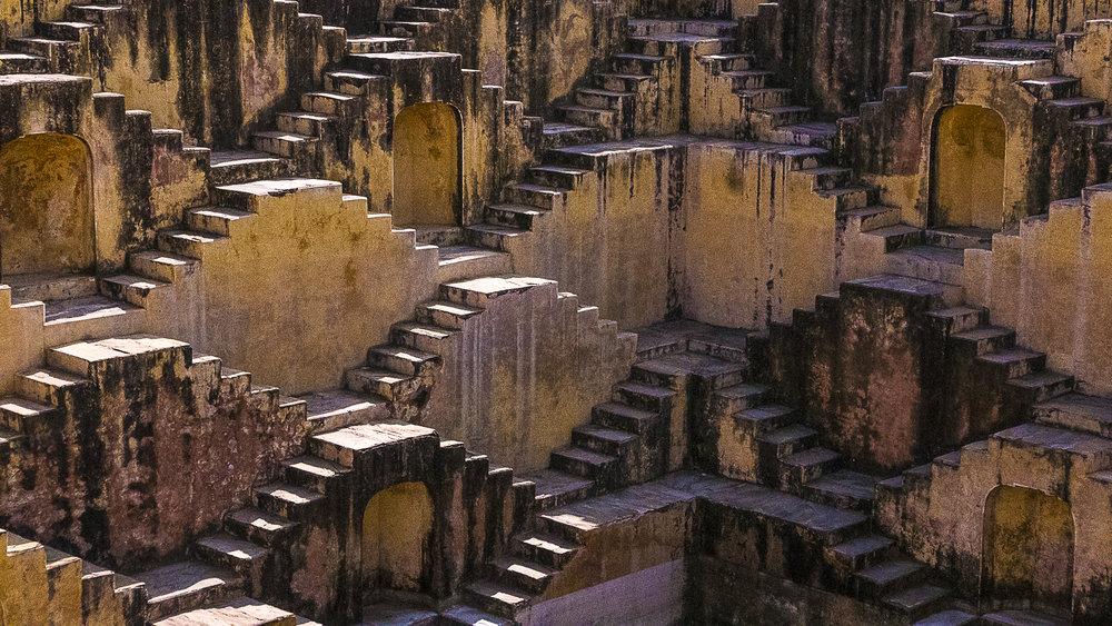 Stepwell, Amer village, Jaipur, Rajasthan, India, 3 Days* - Barbara Huber