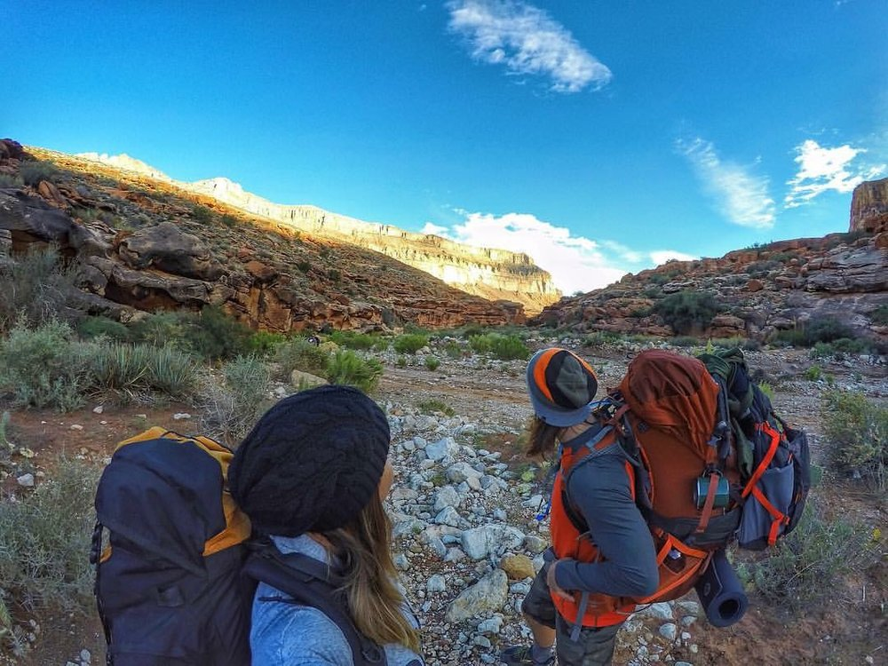 Aaron and Juliana trekking to Havasu Falls, Arizona, US - 3 Days*