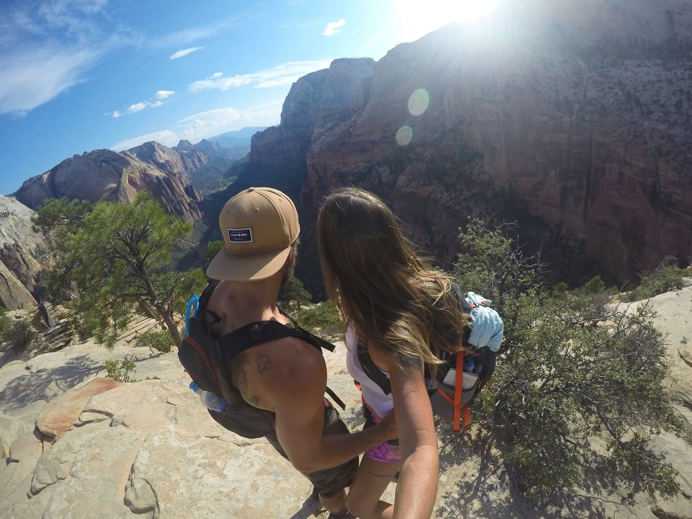 Aaron Medeiros and Juliana Salles at Angel's Landing -Zion National Park, Utah - 3 Days*