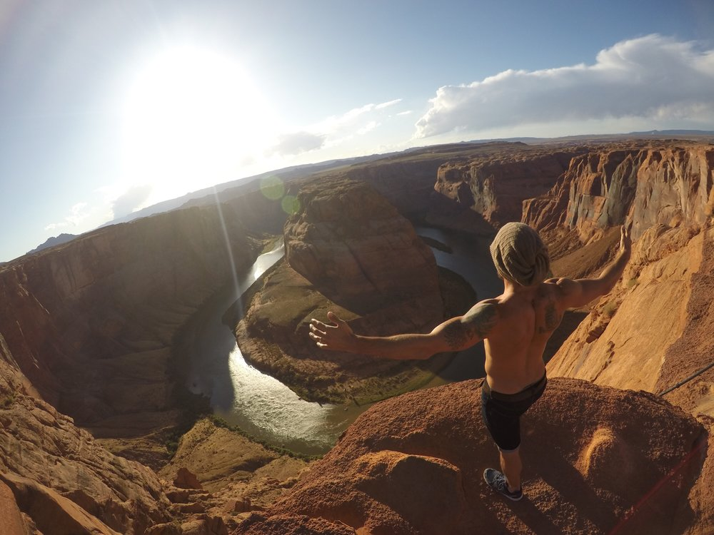 Aaron Medeiros at the Horseshoe Bend, Utah/Arizona - 3 Days*
