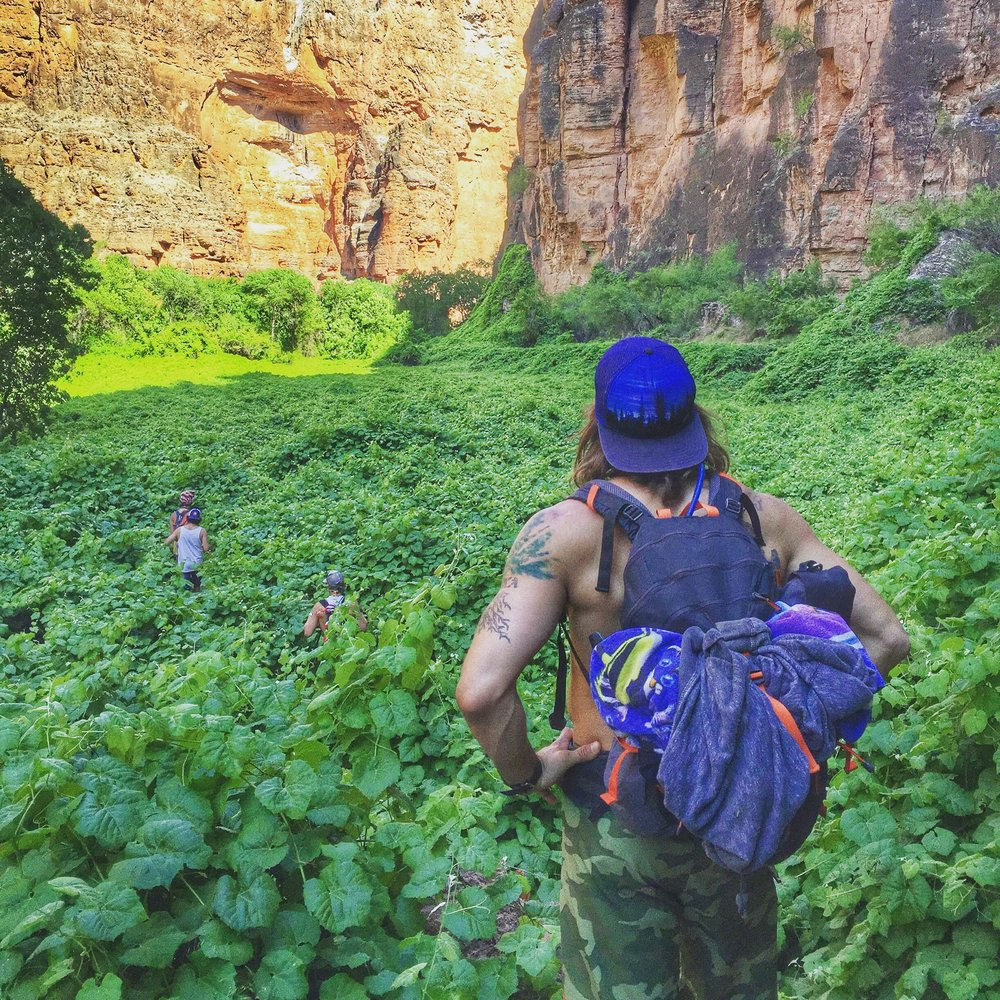 Aaron Medeiros hiking at Havasu Falls, Arizona - 3 Days*