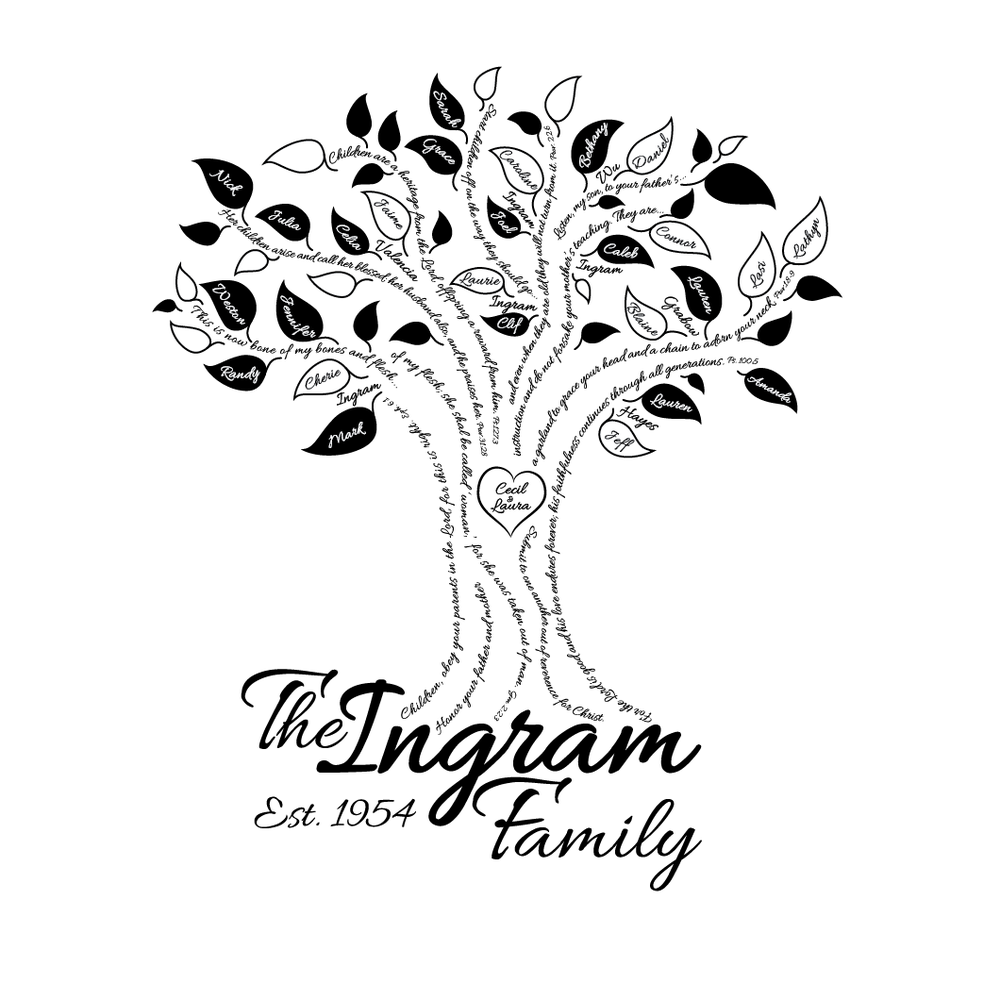 Family tree design by Kait Robison