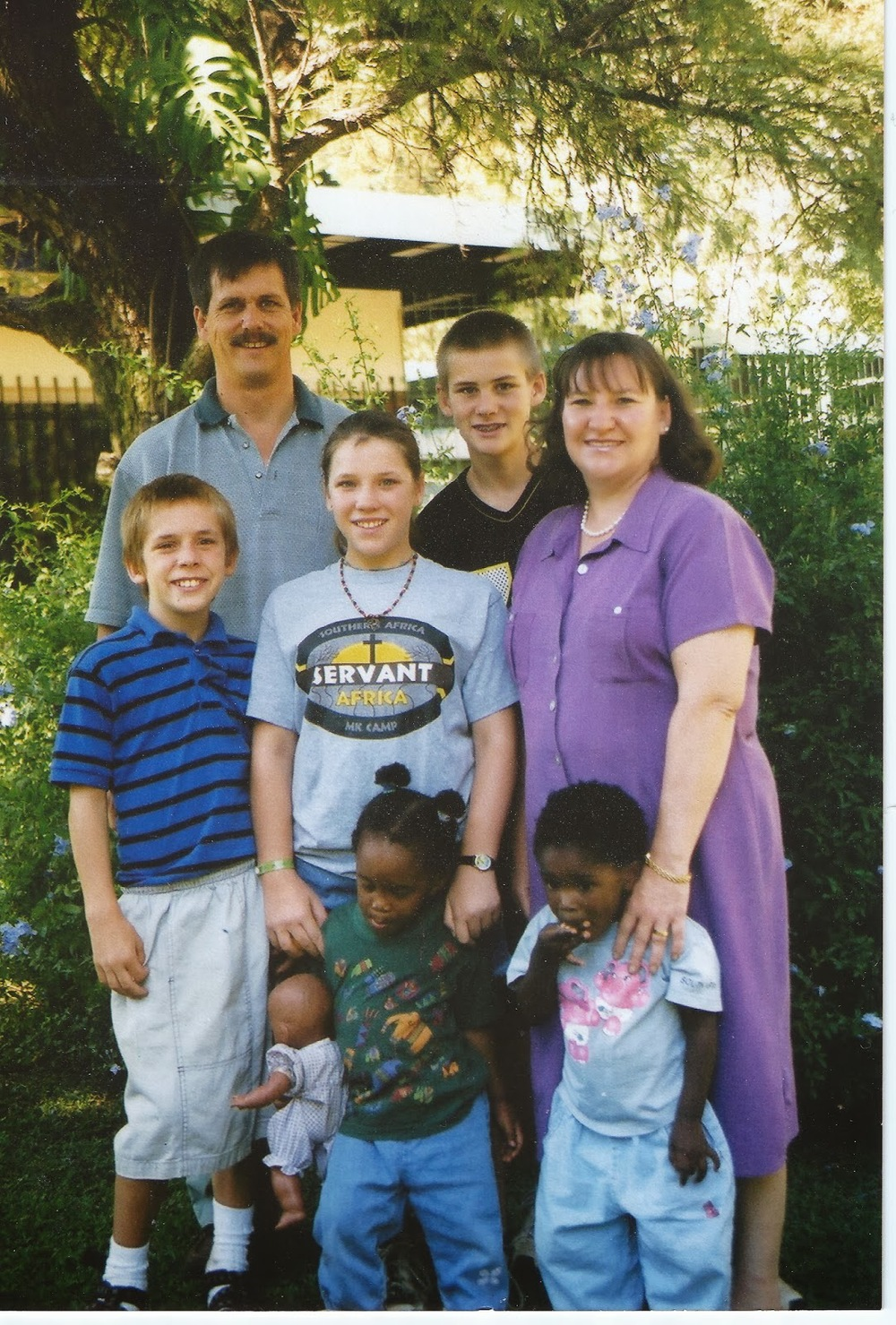 Family photo, South Africa 2003