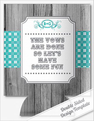 Wording and Sayings wedding koozie designs and templates by ...