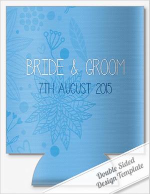 Illustrated wedding koozie templates by personalizedpockets.com.com