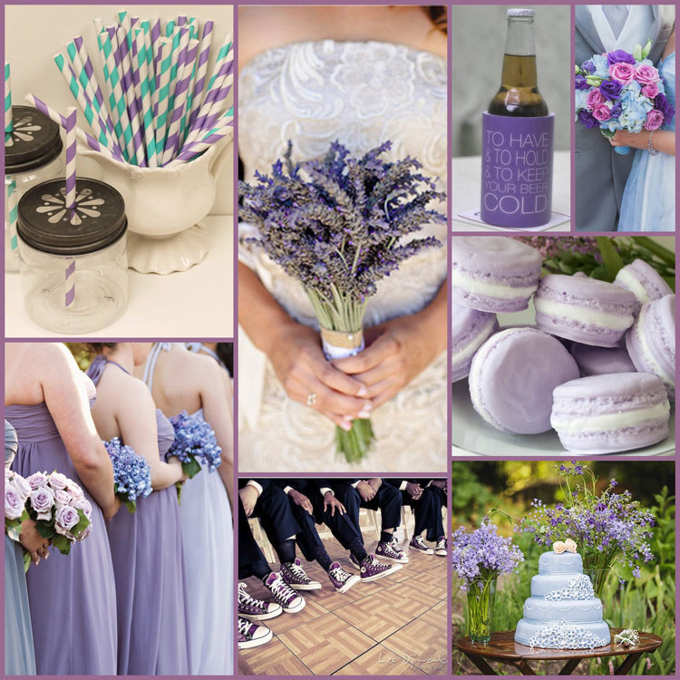 Wedding Color Schemes And Ideas For Pastel Purple Teal Cornflower Blue Koozies