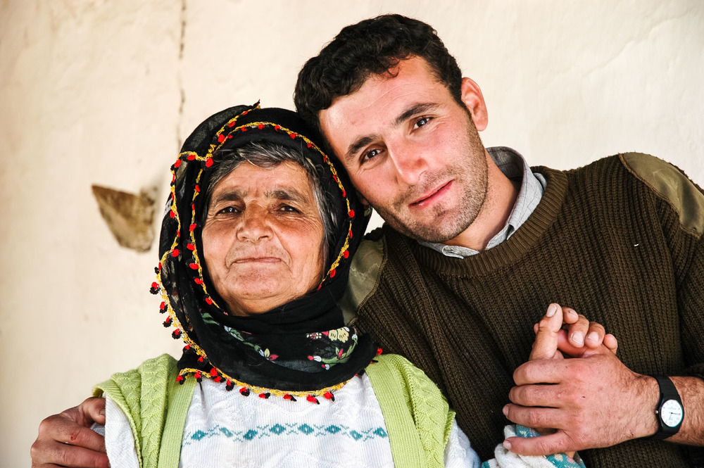 Mother and son in Çakmaklı Köyū village, in the upper Munzur Valley.