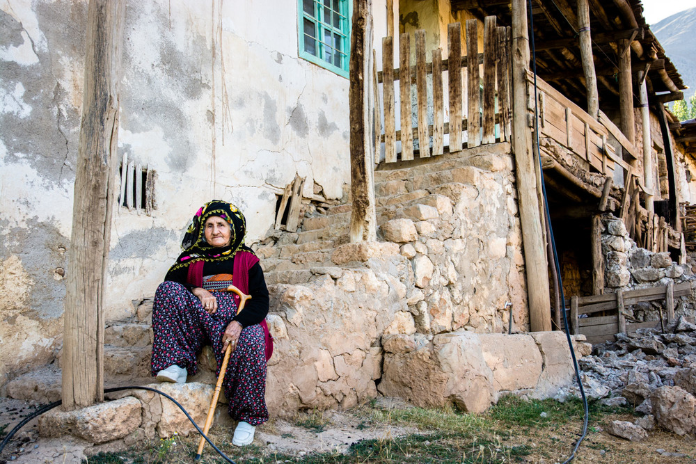 Outside a house in Kedek village.  People of the older generations speak mainly Zaza, while younger people tend to be more fluent in Turkish.