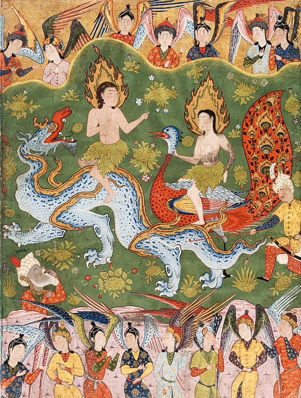 Adam and Eve, as depicted in 16th century Safavid Iran