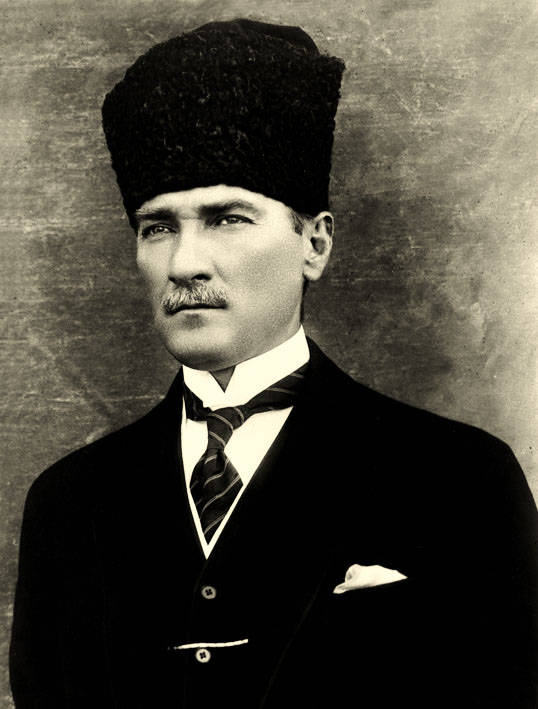 Mustafa Kemal in 1923. He became known as     Atatürk in 1934.