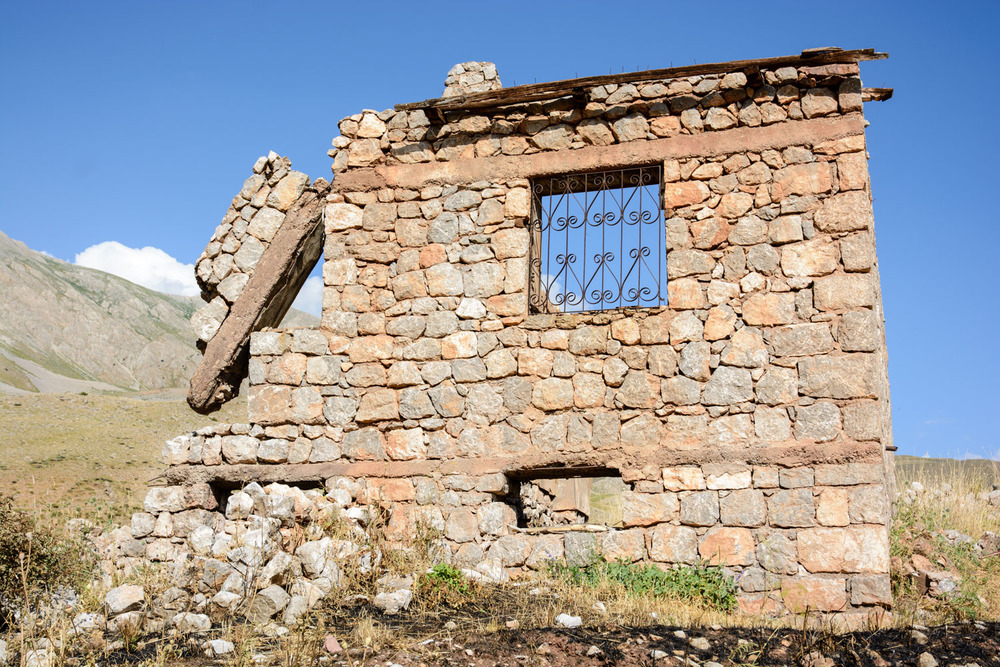 The remains of a house destroyed by the Turkish military in 1994.