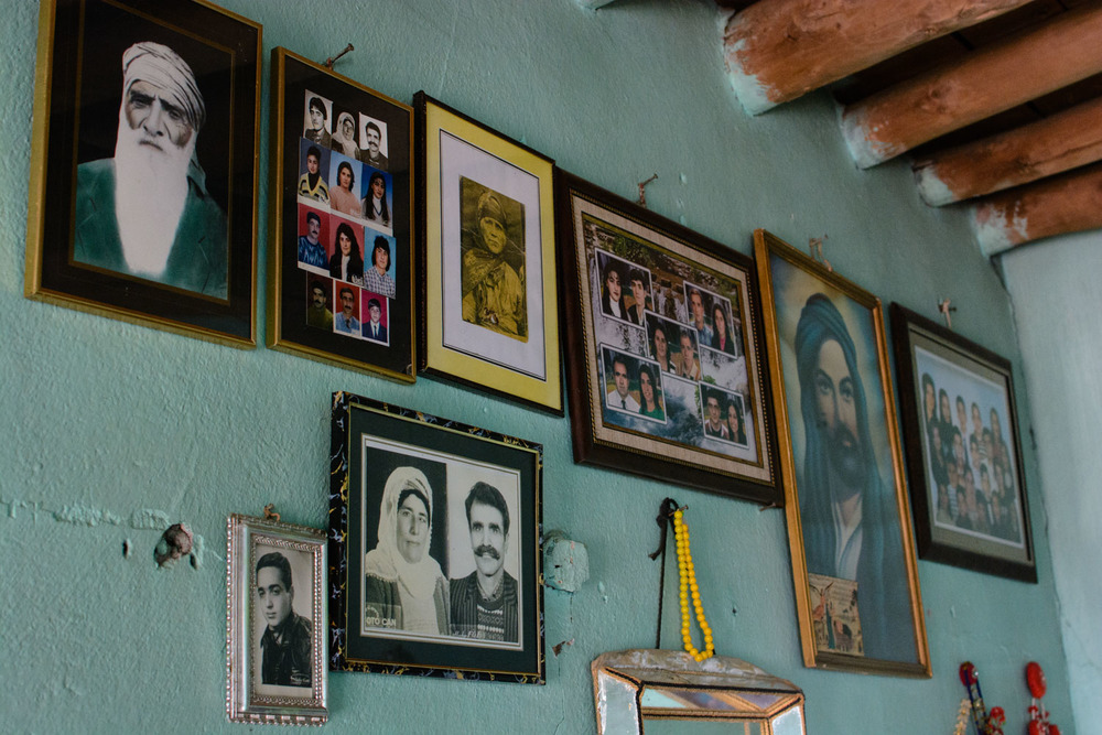 Many homes have walls with pictures of the family, and perhaps Ali, Husseyn, or Seyit Riza (the leader of the 1937 Dersim Rebellion).