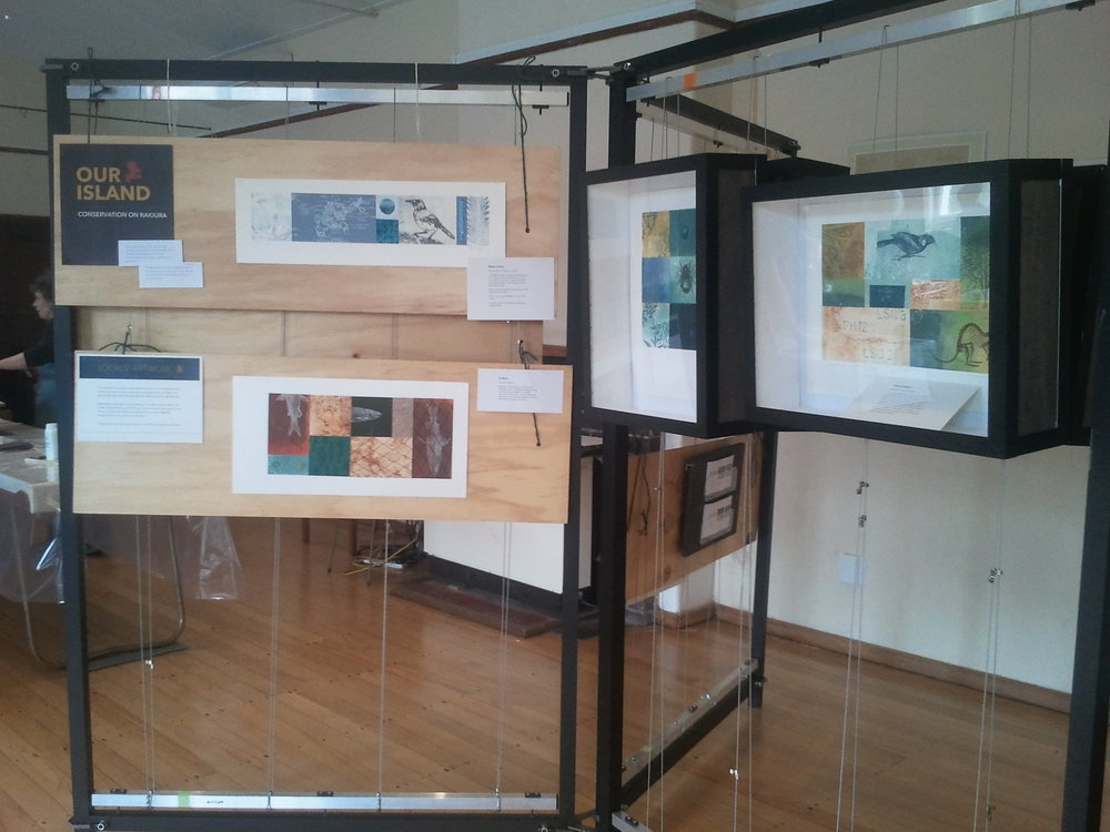 The photo here is a display of some of the work Jenny and her team did down on Stewart Island during the first of these workshops in 2015.