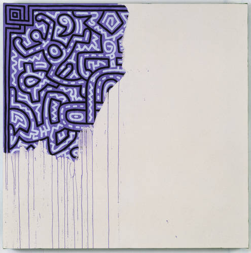 Unfinished Painting, 1989; Acrylic on canvas, 100 x 100 cm, Courtesy of Keith Haring Foundation