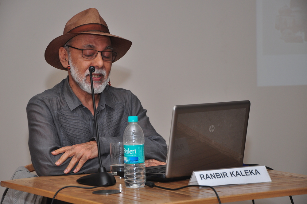 Ranbir Kaleka talking about his work, (Image courtesy- KNMA, New Delhi)JPG.JPG