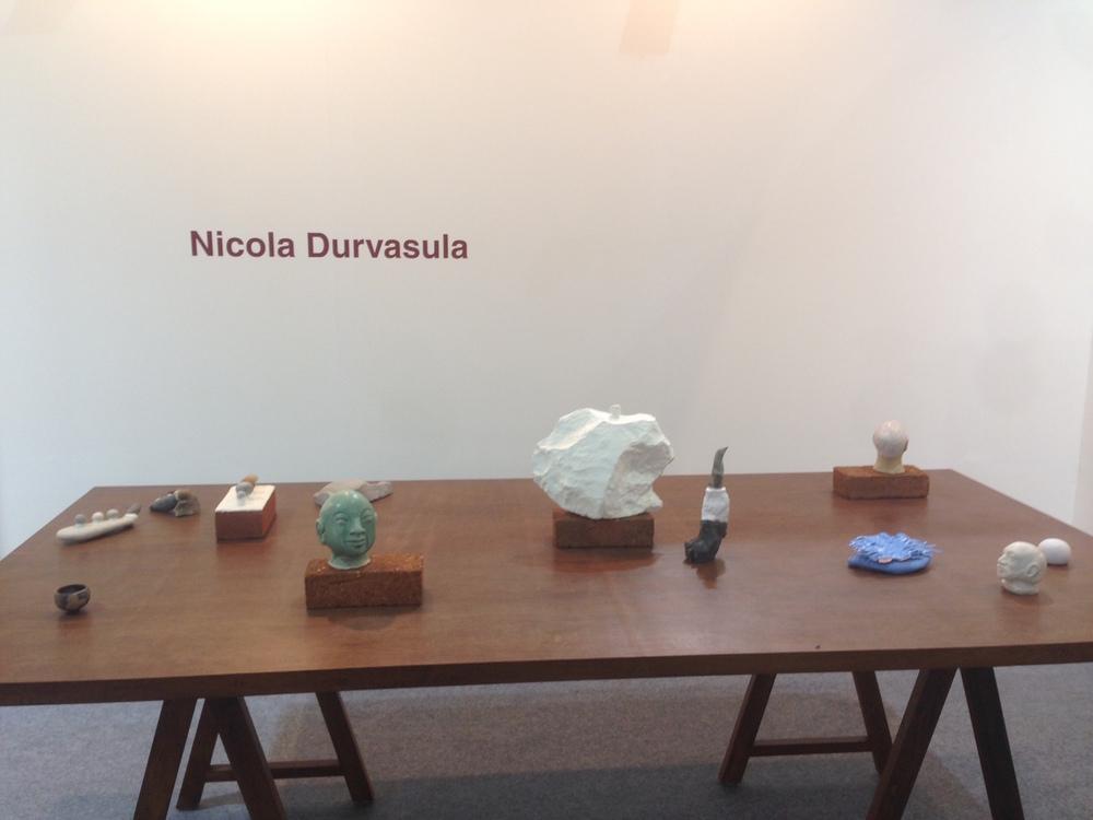Nicola Durvasula's solo presentation at Galerie Mirchandani + Steinruecke. Image courtesy Galerie Mirchandani + Steinruecke.