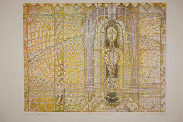 Krishna Reddy, 'Woman of Sunflower', 1997. Image courtesy the artist and Experimenter.
