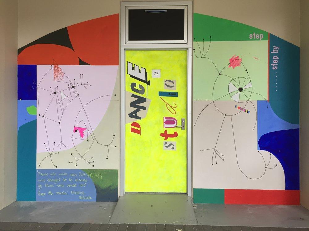 Dance Studio Mural - St Michael's College, Adelaide.