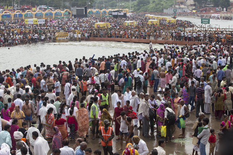 Pilgrims at the Khumba Mela in Nashik near Mumbai in 2015. There were over a million devotees when I visited.
