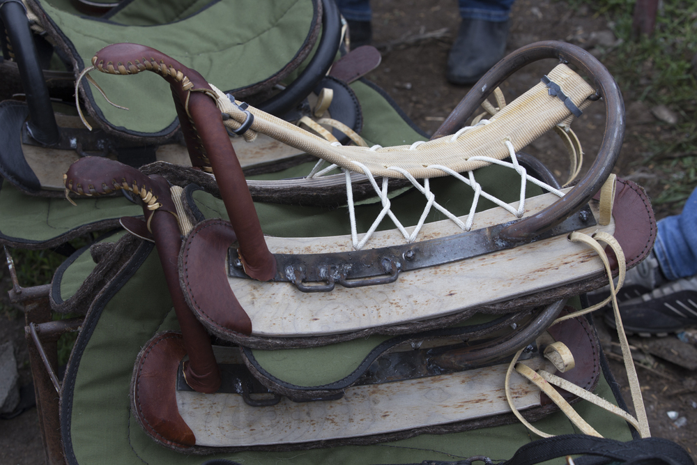 'Russian style ' saddles, supposedly more comfortable than they look.