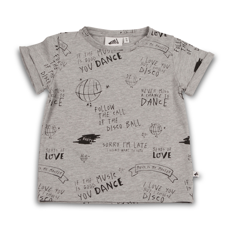 Follow The Call Of The Disco Ball T Shirt Ss Heather Grey Cos I