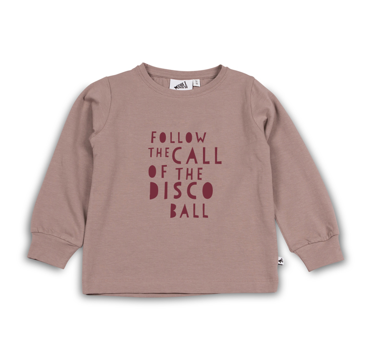 Follow The Call Of The Disco Ball T Shirt Ls Fawn Cos I Said So