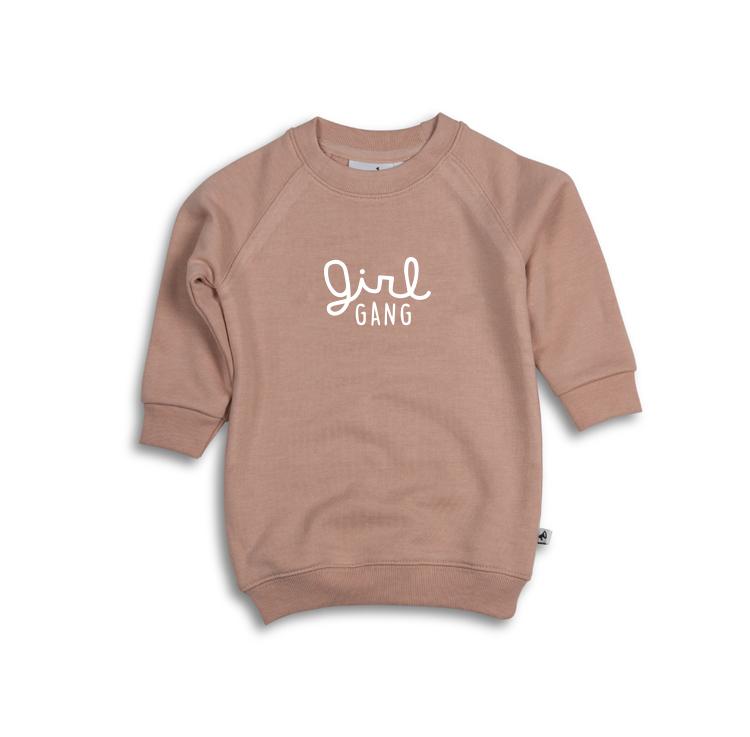 178db02716 GIRL GANG - sweater dress blush pink white print — COS I SAID SO