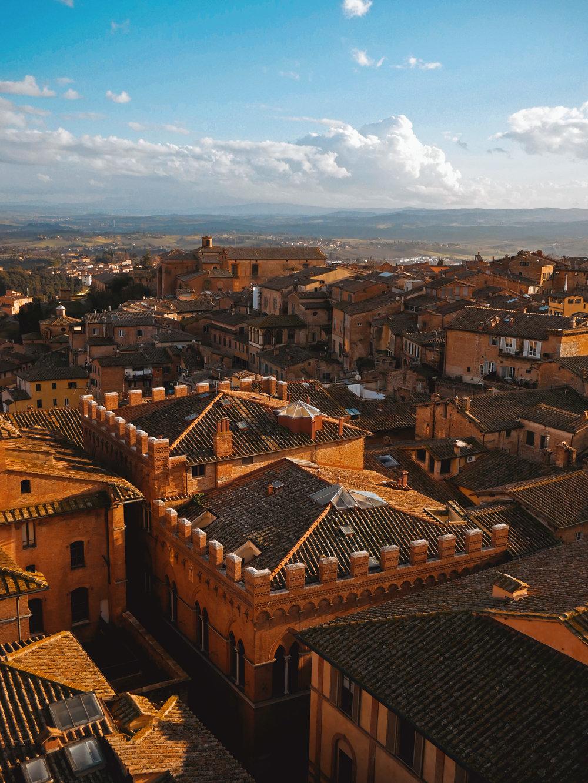 Rooftops in Siena
