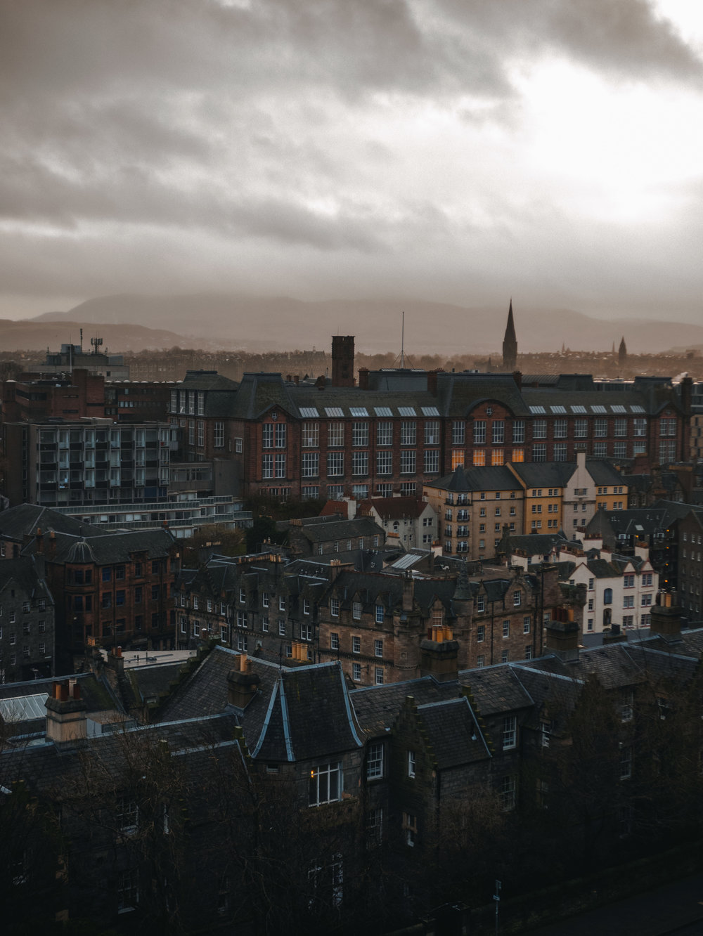 Rooftops in Edinburgh