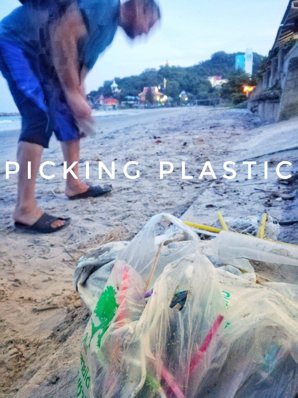 tony olive Thailand picking plastic