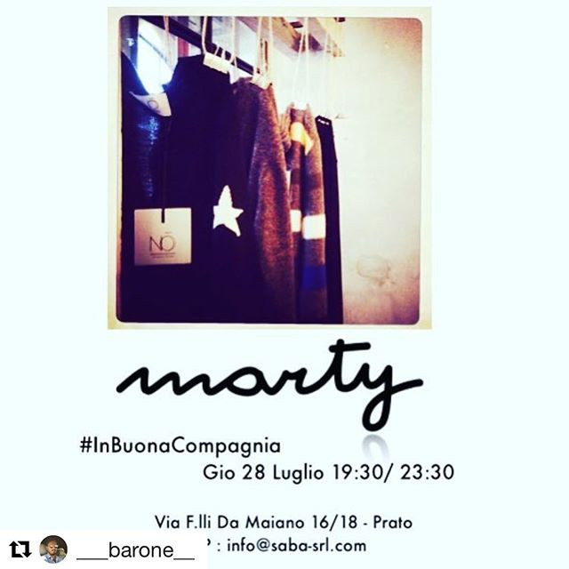 EVENTS | @martyprato & @no_knitwear present #InBuonaCompagnia - Gio 28 Luglio - 19:30