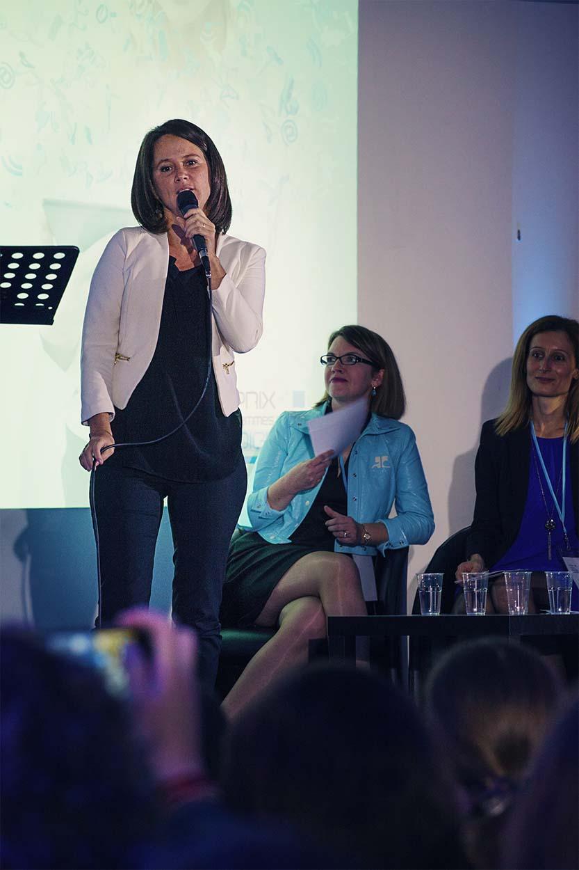 Johanna Rolland, maire de Nantes, au Prix des Femmes du Digital Ouest