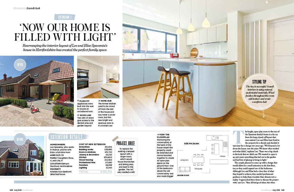 Harvey Norman Architects Good Homes Magazine spread, June 2015