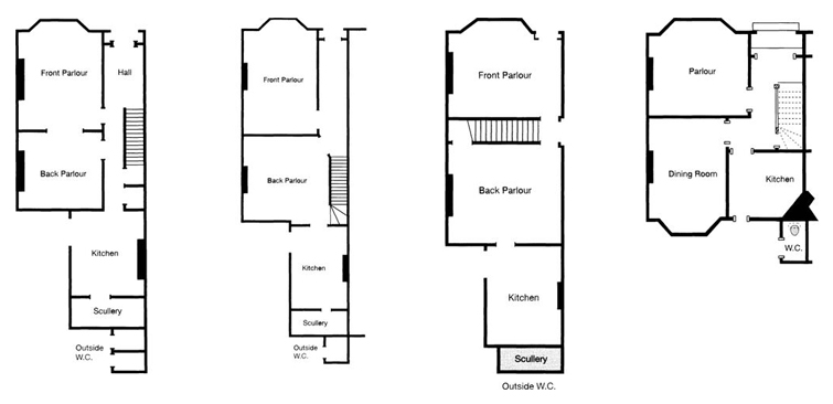 Cambridge architects - the four most common Victorian terraced house layouts in Cambridge
