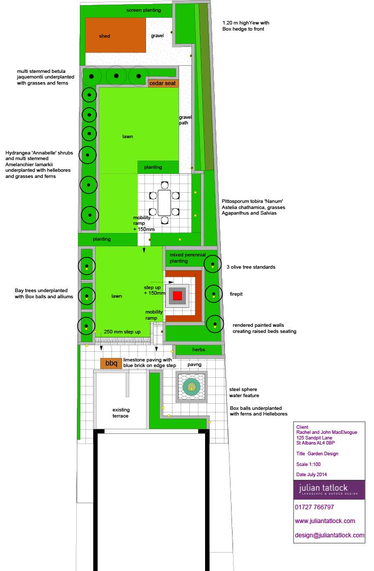 Garden design by Julian Tatlock Landscape & Garden Design