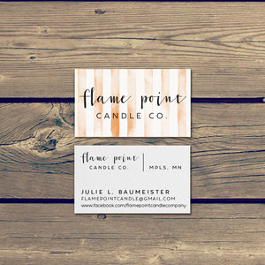 Flame point candle co logo design product tags business cards mockupflame point bus cardsg colourmoves