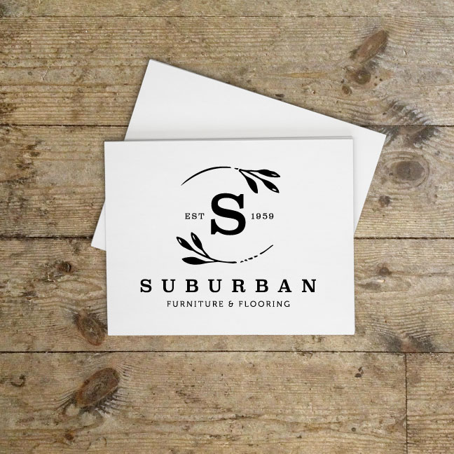 Suburban Furniture Flooring Logo Design Re Brand Lmno Design Co