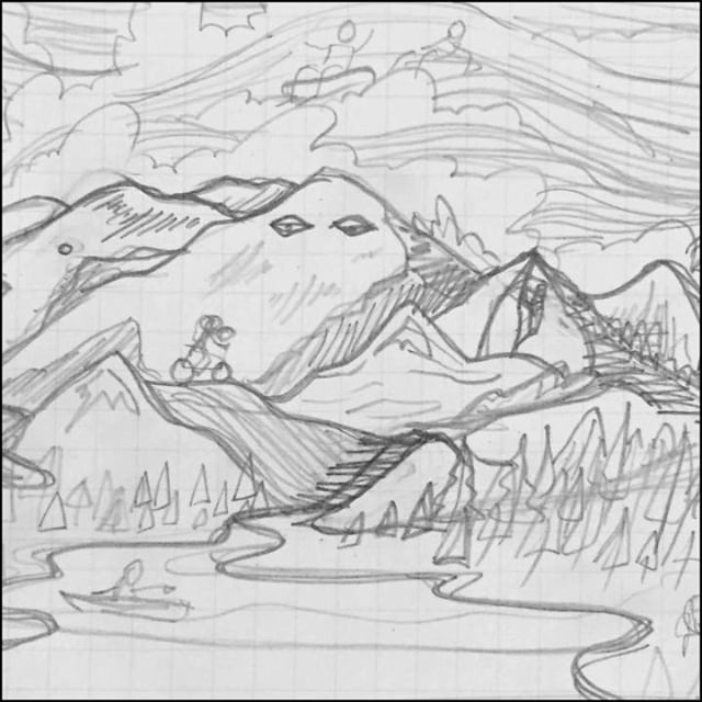 Alright last mural post for a little while...Process of rough sketch to tighter sketch to finalized illustration to painting. Also some of my favorite little moments in the landscape including climbing, surfing, skiing, cloud tubing, hiking and cliff jumping. It was so fun hiding all kinds of activities within the overall illustration. #mural #illustration #process #painting #outdoor #colorado #larkspot