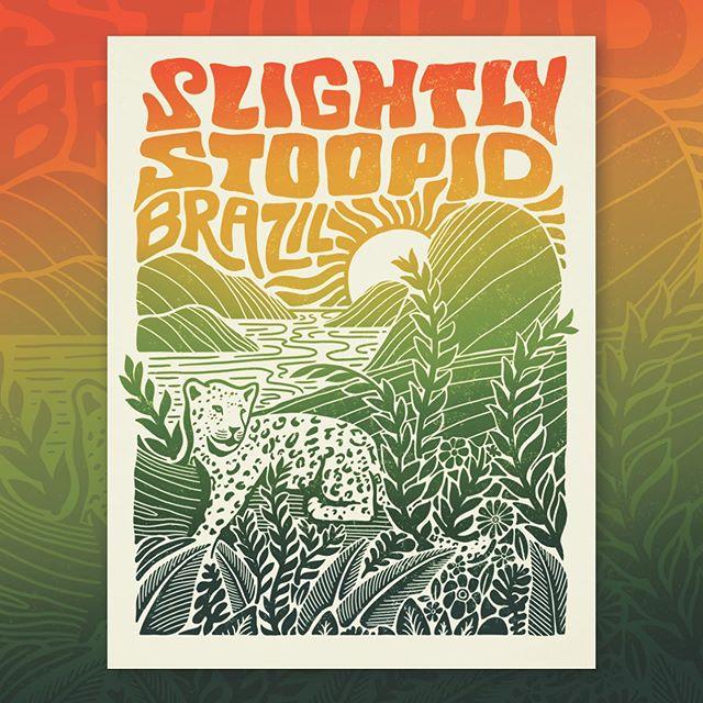 Some art I made for @slightlystoopid and their Brazil tour #illustration #art #brazil #music #poster
