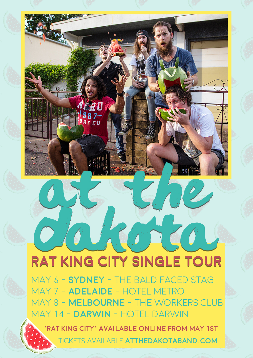 at the dakota rat king city single launch tour poster